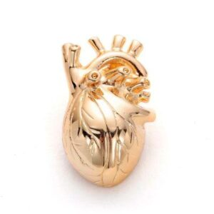 Real Heart Shape Brooches (Gold-color)