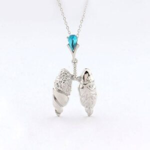 Lungs Necklace with Crystal 4