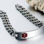 Men's Medical Alert ID Stainless Steel Bracelet (Free Engraving) (4)
