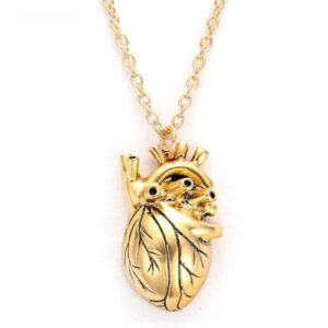 SilverGold Real Heart Shape Necklace 4