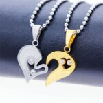 Love Heart Necklaces & Pendants With Crystal for Couples (7)