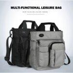2019 Men Multifunctional Waterproof Shoulder Messenger Large Capacity Storage Bag with Headphone Hole (4)