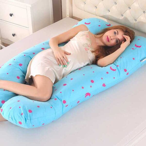 100% Cotton Sleeping Support Pillow For Pregnant Women Body 1