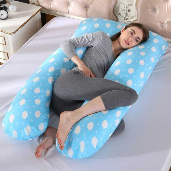 100% Cotton Sleeping Support Pillow For Pregnant Women Body