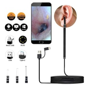 3in1 Type-c & Android & PC Visual Earpick Ear Cleaning Endoscope Spoon Mini Camera Ear Picker Ear Wax Removal 1