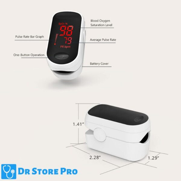 Fingertip Pulse Oximeter With Pulse Rate Measurements